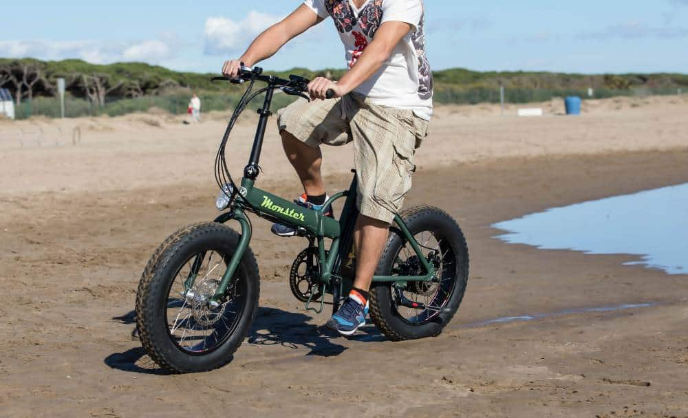 fat bike electrica y plegable